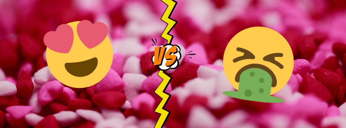 Sukkerhjerter med emojis på