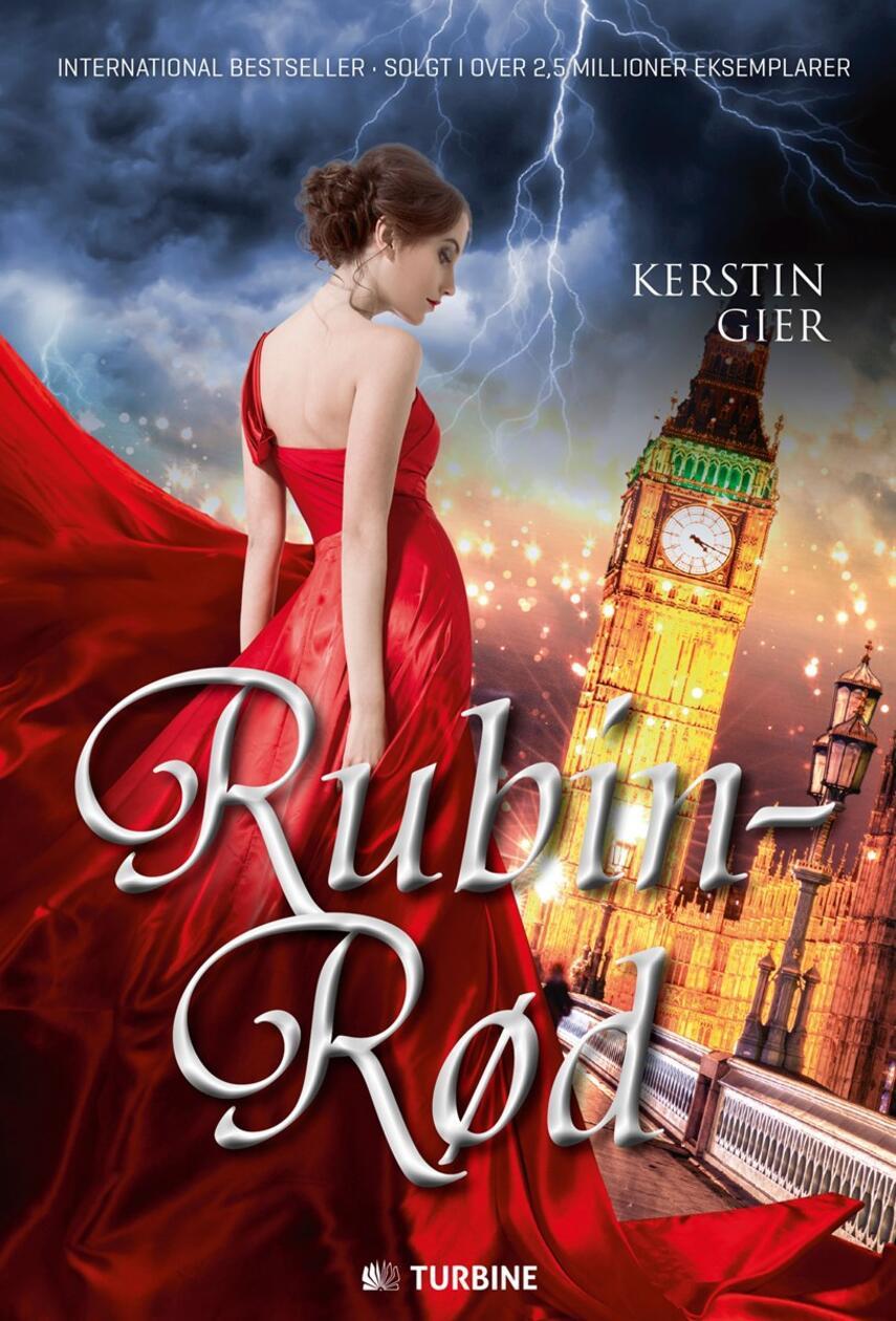 Kerstin Gier (f. 1966): Rubinrød : kærlighed går gennem alle tider